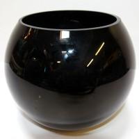 Black Glass Globe Bowl