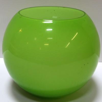 Lime Green Glass Globe Bowl