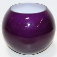 Purple Glass Globe Bowl