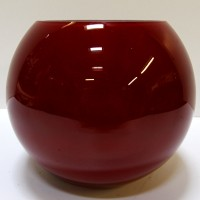 Red Glass Globe Bowl
