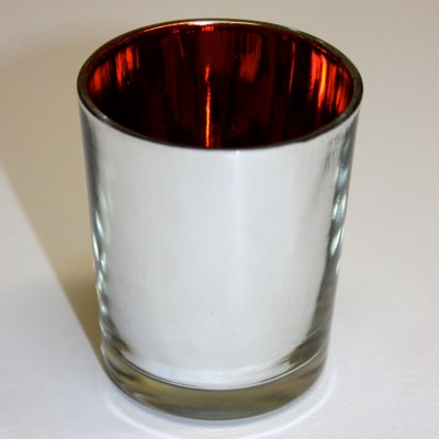 Mirrored with Red Interior Tealight Holders