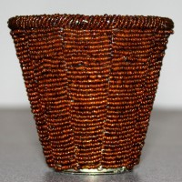 Brown Beaded Tealight Holders