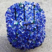Cobalt Blue Round Beaded Tealight Holders