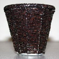 Dark Brown Beaded Tealight Holders