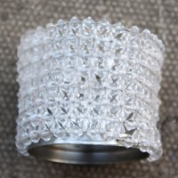White Beaded Tealight Holders