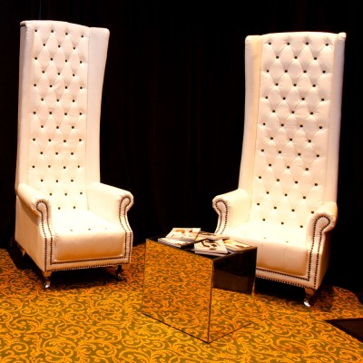 White Leather Highback Chair