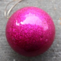 Pink Glitter Baubles