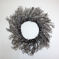 Beaded Glitter Twig Wreaths