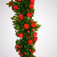 Plastic Red Rose Garland