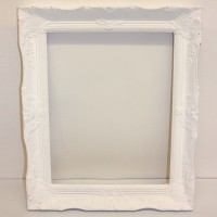 Large Painted White Picture Frame