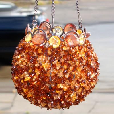 Bronze Beaded Bowl Hanging Lantern