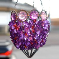 Purple Jewel Beaded Hanging Lantern