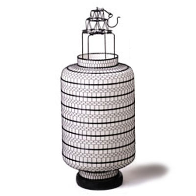 Large Fabric Lanterns Round