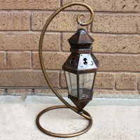 Ornate Metal Standing Lantern