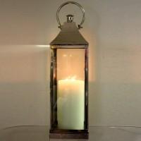 Silver Metal Standing Lantern
