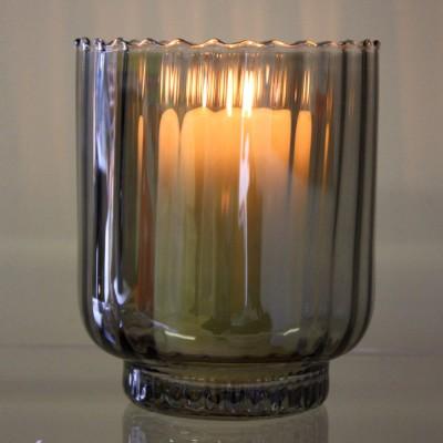 Smoked Glass Storm Lantern