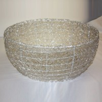 Woven Clear Bowl for Candles