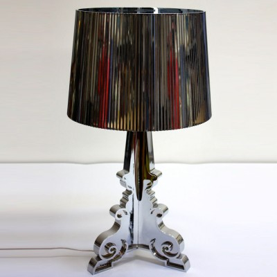 Silver Perspex Table Lamp