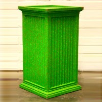 Green with Gold Speckles Fluted Plinth