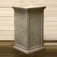 White with Silver Speckles Fluted Plinth