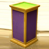 Purple and Gold Fluted Plinth