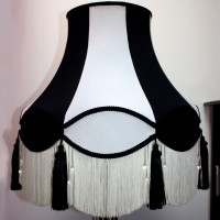Black and White Abbey Lampshade Style 1