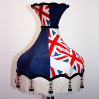 Union Jack Lampshade Blue