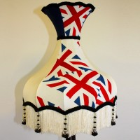 Union Jack Lampshade Cream