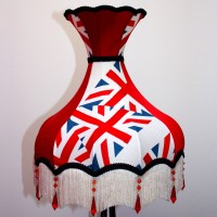 Union Jack Lampshade Red