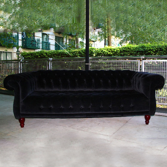 Black Velvet Chesterfield Sofa - Ten and a Half Thousand Things
