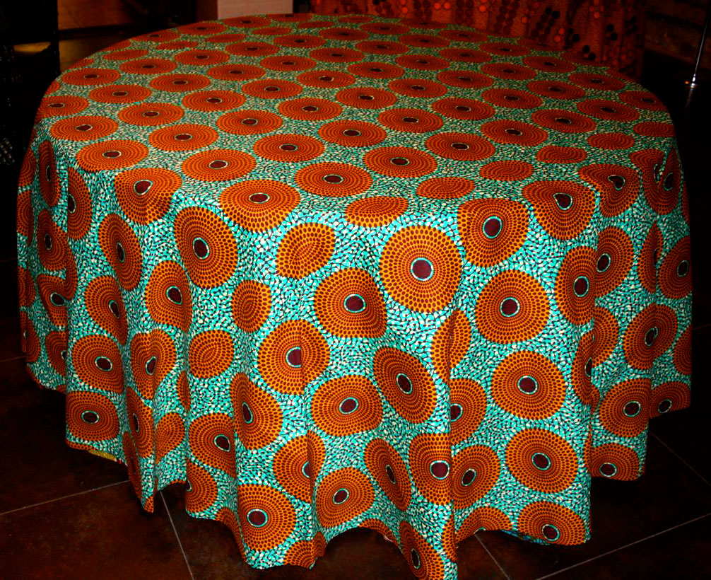 African Fabric Tablecloth - Style 3 - Ten and a Half ...