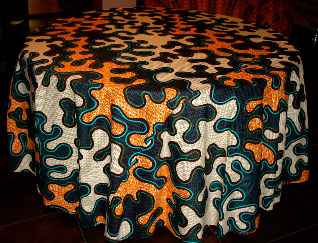 Fabric Tablecloth Style  African Fabric Tablecloth Style  Size