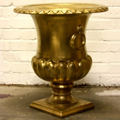 Gold Painted Plastic Cast Urn