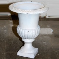 Small White Plaster Urn - Style 1
