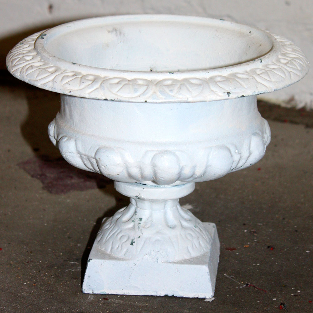Small White Plaster Urn Style 2 Ten And A Half