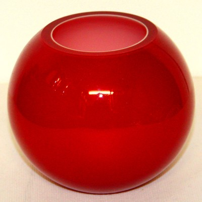 Red Glass Globe Bowl