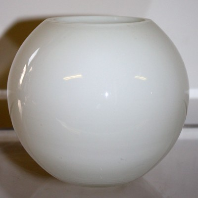 White Glass Globe Bowl