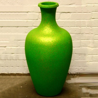 Green with Gold Speckle Plasticl Vase