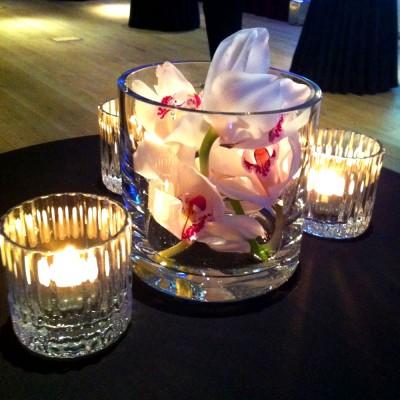 Clear Glass Short Cylinder Vase