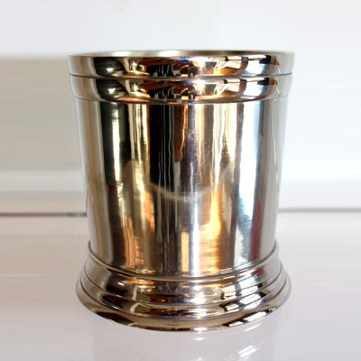 Large Silver Cup with Thick Rim