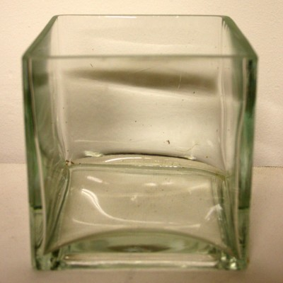 Clear Glass Cube Vase