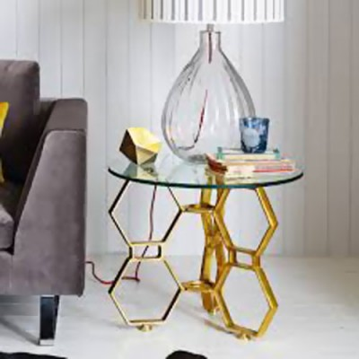 Hex Glass Table