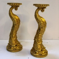 Carved Gold Candelbras