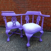 Purple Love Seat