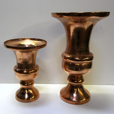Rose Gold Metal Urns